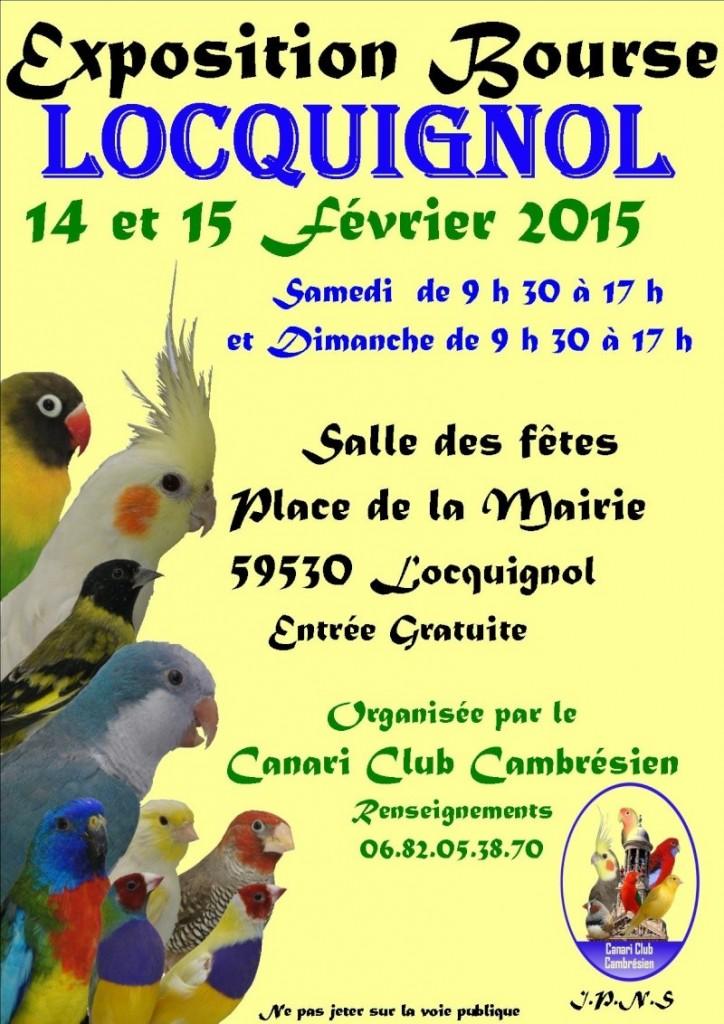Exposition-Bourse aux oiseaux à Locquignol (59), du samedi 14 au dimanche 15 février 2015