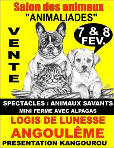 Salon du chiot Animaliades à Angoulême (16), du samedi 07 au dimanche 08 février 2015