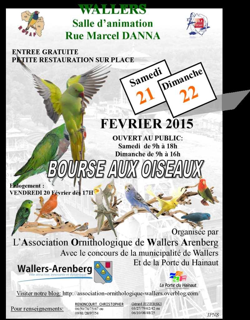Bourse aux oiseaux wallers arenberg 59 du samedi 21 - Entree gratuite salon agriculture 2015 ...