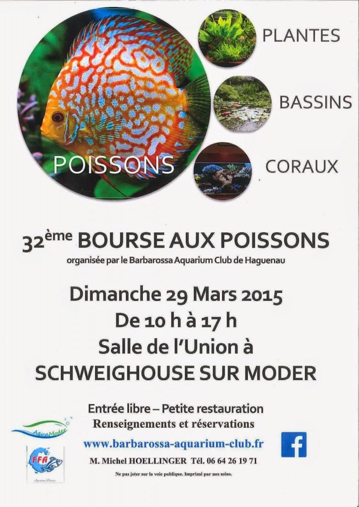32 ème Bourse aux poissons à Schweighouse sur Moder (67), le dimanche 29 mars 2015