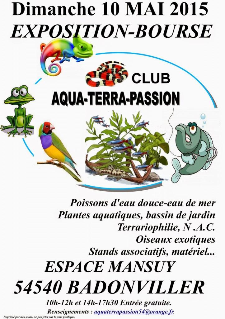 Exposition-Bourse aux poissons, reptiles et oiseaux à Badonviller (54), le dimanche 10 mai 2015