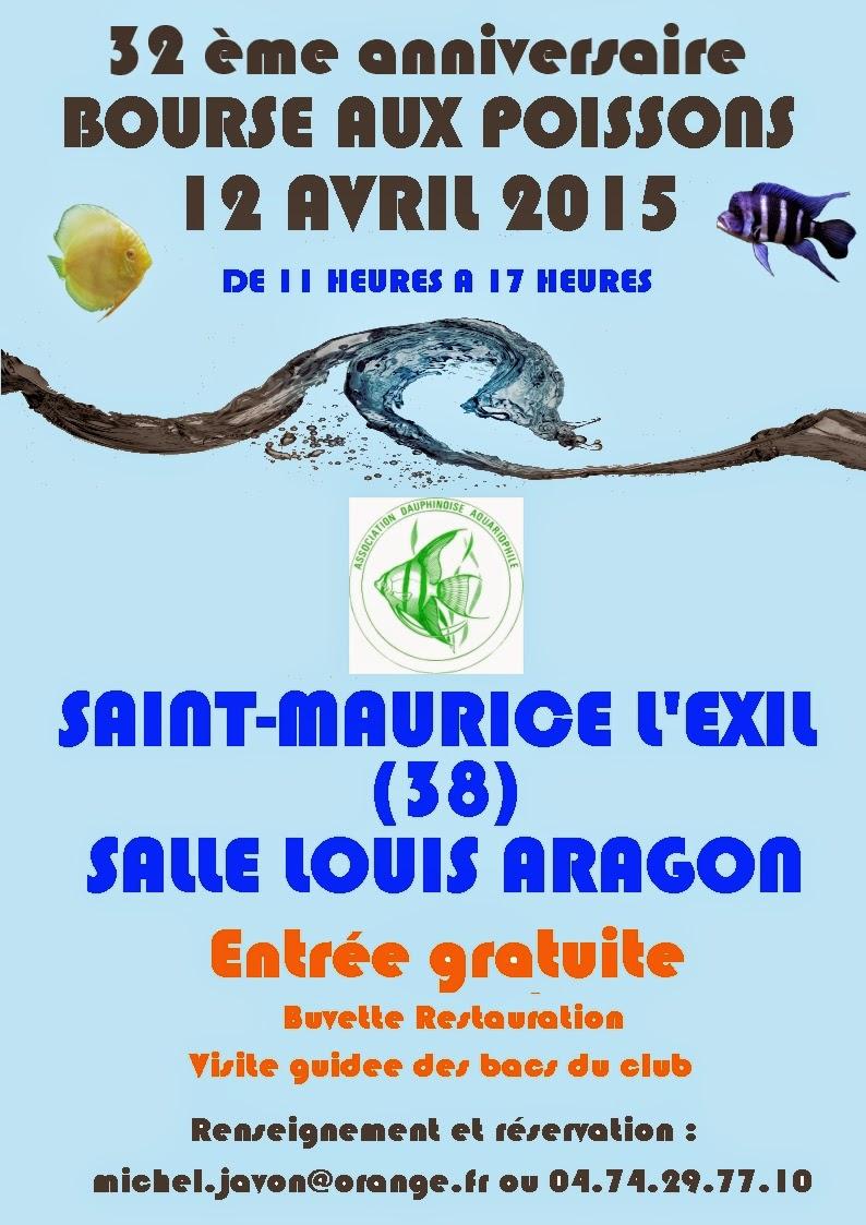32 ème Bourse aux poissons à Saint Maurice l'Exil (38), le dimanche 12 avril 2015