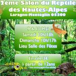 2 ème Salon du reptile des Hautes Alpes à Laragne Montgélin (05), du samedi 09 au dimanche 10 mai 2015