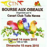 Bourse aux oiseaux à Tulle (19), du samedi 14 au dimanche 15 mars 2015