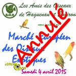 Marché européen des oiseaux à Haguenau (67), le dimanche 04 avril 2015