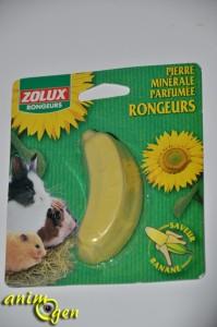 Accessoire : bloc minéral pour rongeurs et lapins parfumé à la banane (Zolux)