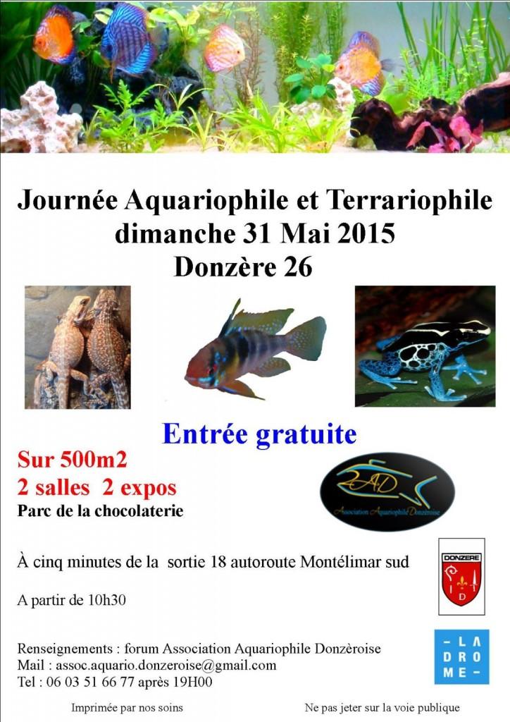 Journ e aquariophile et terrariophile donz re 26 le - Entree gratuite salon agriculture 2015 ...