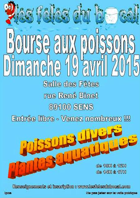 18 ème Bourse aux poissons à Sens (89), le dimanche 19 avril 2015