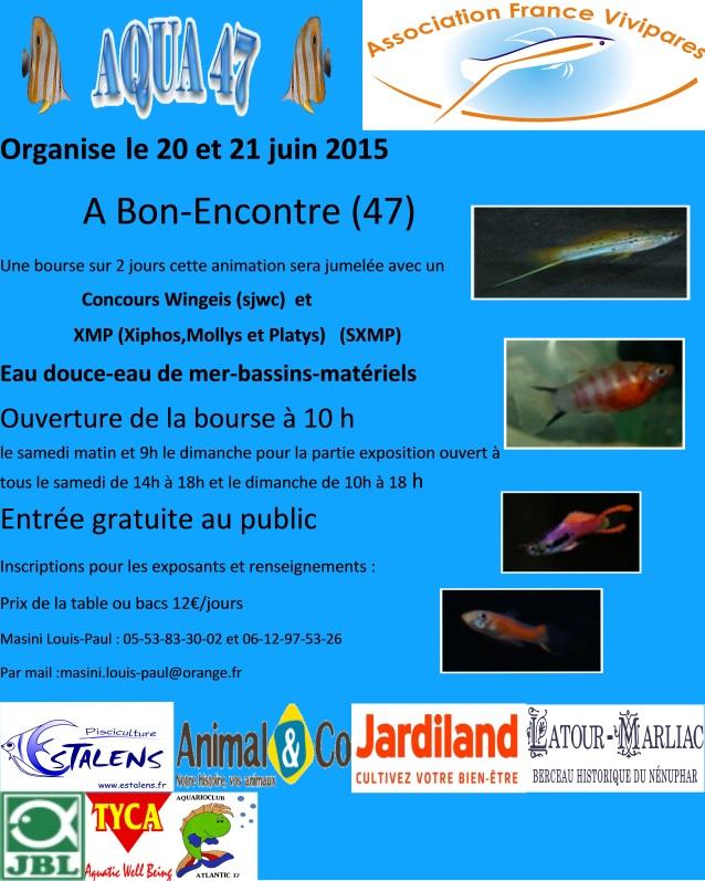 Bourse aux poissons à Bon-Encontre (47), du samedi 20 au dimanche 21 juin 2015