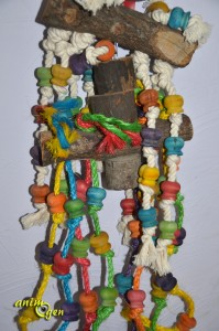 Jouet pour grand perroquet : jouet en bois avec cordes, Fit&Fun (test, avis, prix)