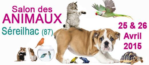 Salon des animaux de compagnie à Séreilhac (87), du samedi 25 et dimanche 26 avril 2015