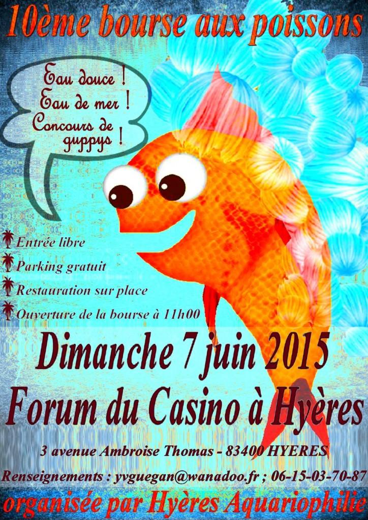 10 ème Bourse aux poissons à Hyères les Palmiers (83), le dimanche 07 juin 2015
