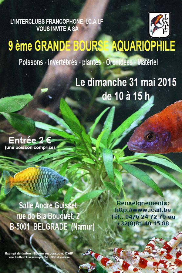 9 ème grande Bourse aquariophile à Belgrade (Belgique), le dimanche 31 mai 2015