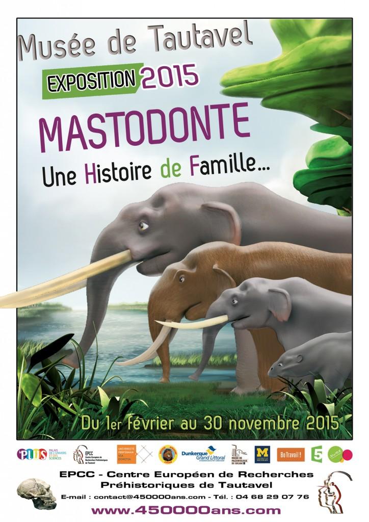 """Exposition """"Mastodonte, Une Histoire de Famille…"""" à Tautavel (66), du 1 er février au 30 novembre 2015"""