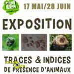 """Exposition """"Traces et indices de présence d'animaux"""" à Aveize (69), du dimanche 17 mai au dimanche 28 juin 2015"""