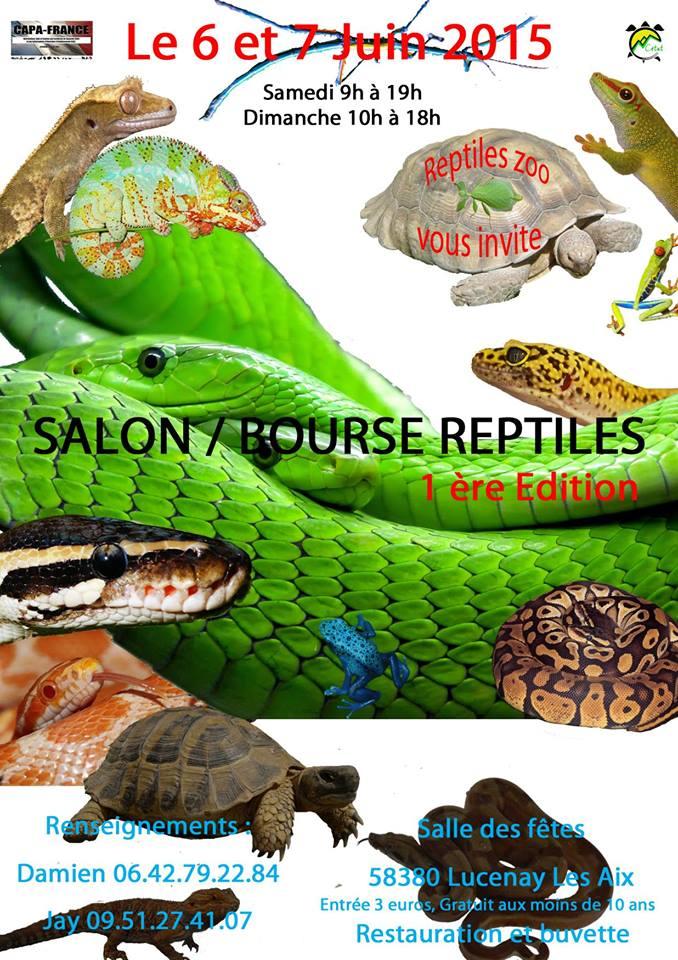 Salon – Bourse Reptiles à Lucenay les Aix (58), du samedi 06 au dimanche 07 juin 2015