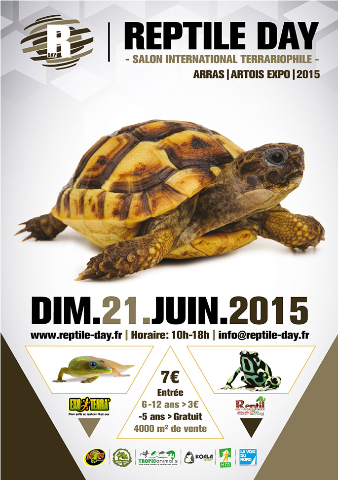 Reptile day (Salon international terrariophile) à Arras (62), le dimanche 21 juin 2015