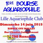 1 ère Bourse aquariophile à Ronchin (59), le dimanche 14 juin 2015