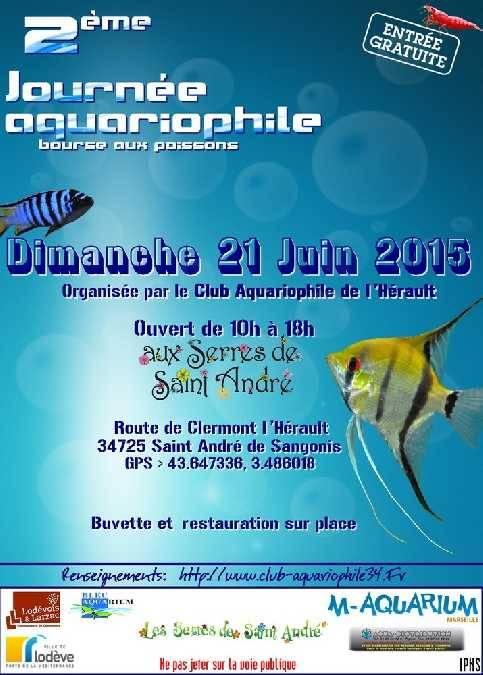 2 ème Journée Aquariophile à Saint André de Sangonis (34), le dimanche 21 juin 2015