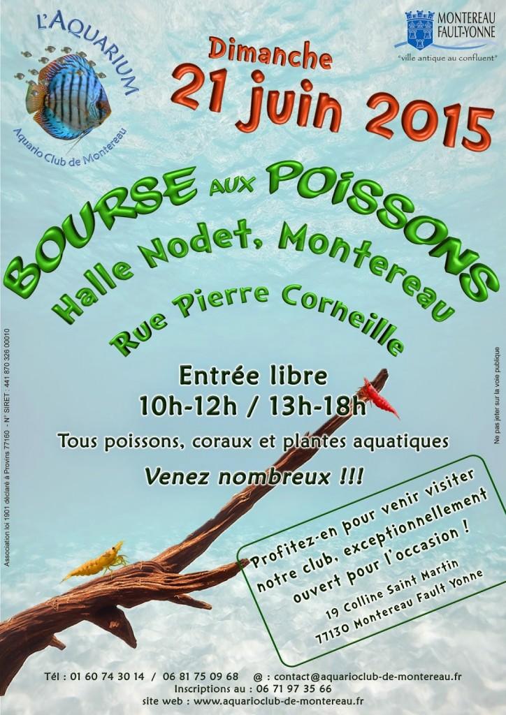 Bourse aux poissons à Montereau Fault Yonne (77), le dimanche 21 juin 2015