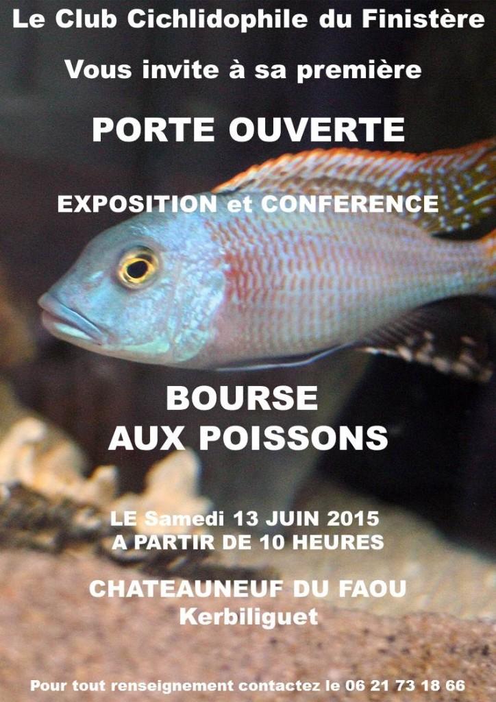 Bourse aux poissons, exposition, conférence à Châteauneuf du Faou (29), le samedi 13 juin 2015