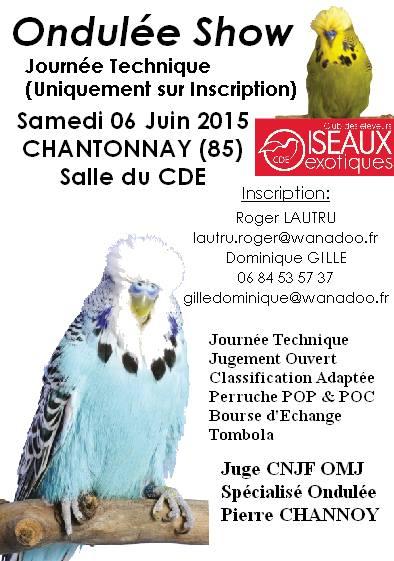 Ondulée Show à Chantonnay (85), le samedi 06 juin 2015