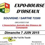 Expo-Bourse d'oiseaux à Souvigné sur Sarthe (72), le dimanche 07 juin 2015
