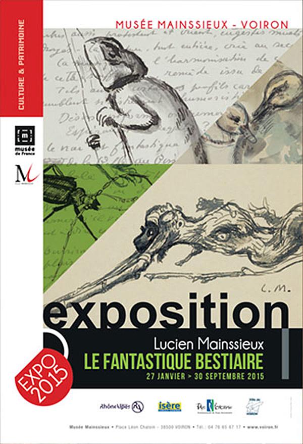 """Exposition """"le Fantastique Bestiaire"""" à Voiron (38), du mardi 27 janvier au mercredi 30 septembre 2015"""