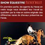 """Show équestre """"Kozach' Ballet"""" à Hennebont (56), du lundi 06 juillet au vendredi 28 août 2015"""