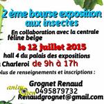 Bourse et exposition d'insectes à Charleroi (Belgique), le dimanche 12 juillet 2015