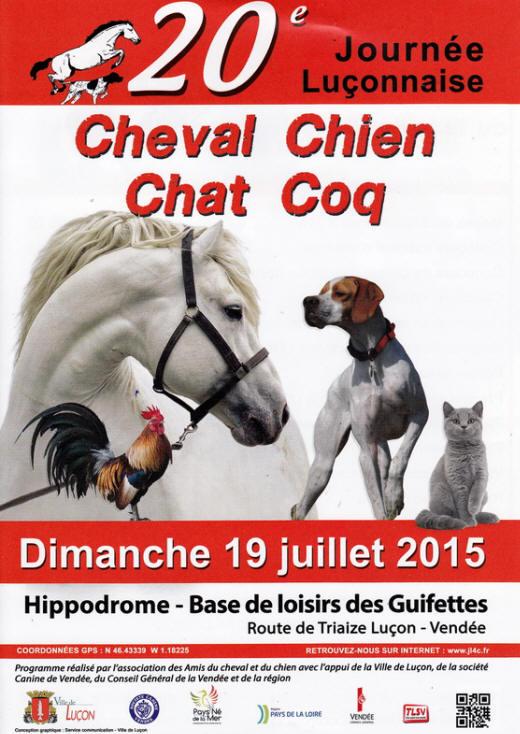 20 ème Journée Luçonnaise Cheval, Chien, Chat, Coq aux Guifettes (85), le dimanche 19 juillet 2015