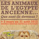 Les animaux de l'Egypte ancienne, que sont-ils devenus ? à Bourges (18), du 02 mars au 31 août 2015