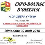 Expo-Bourse d'oiseaux à Daumeray (49), le dimanche 30 août 2015