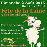 Fête de la laine à Roujan (34), le dimanche 02 août 2015