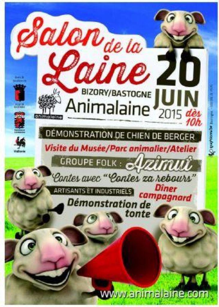 Animalaine, Salon de la laine à Bizory-Bastogne (Belgique), le samedi 20 juin 2015
