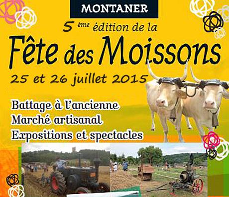 5 ème Fête des Moissons à Montaner (64), du samedi 25 au dimanche 26 juillet 2015