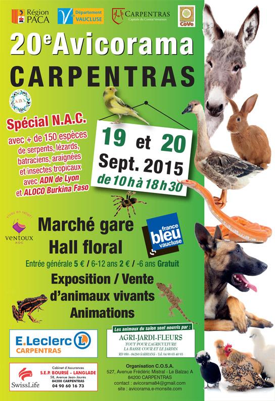 20 ème Avicorama à Carpentras (84), du samedi 19 au dimanche 20 septembre 2015