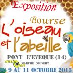 """Exposition-bourse """"L'oiseau et l'abeille"""" à Pont l'Evêque (14), du vendredi 09 au dimanche 11 octobre 2015"""