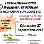 Exposition-Bourse d'oiseaux exotiques à Montjean sur Loire (49), le dimanche 27 septembre 2015