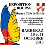 Bourse aux oiseaux à Barberaz (73), du samedi 10 au dimanche 11 octobre 2015