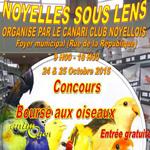 Bourse aux oiseaux et concours à Noyelles sous Lens (62), du samedi 24 au dimanche 25 octobre 2015