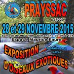 Exposition d'oiseaux exotiques à Prayssac (46), du samedi 28 au dimanche 29 novembre 2015