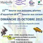Bourse aux poissons, plantes et coraux à Laxou (54), le dimanche 25 octobre 2015