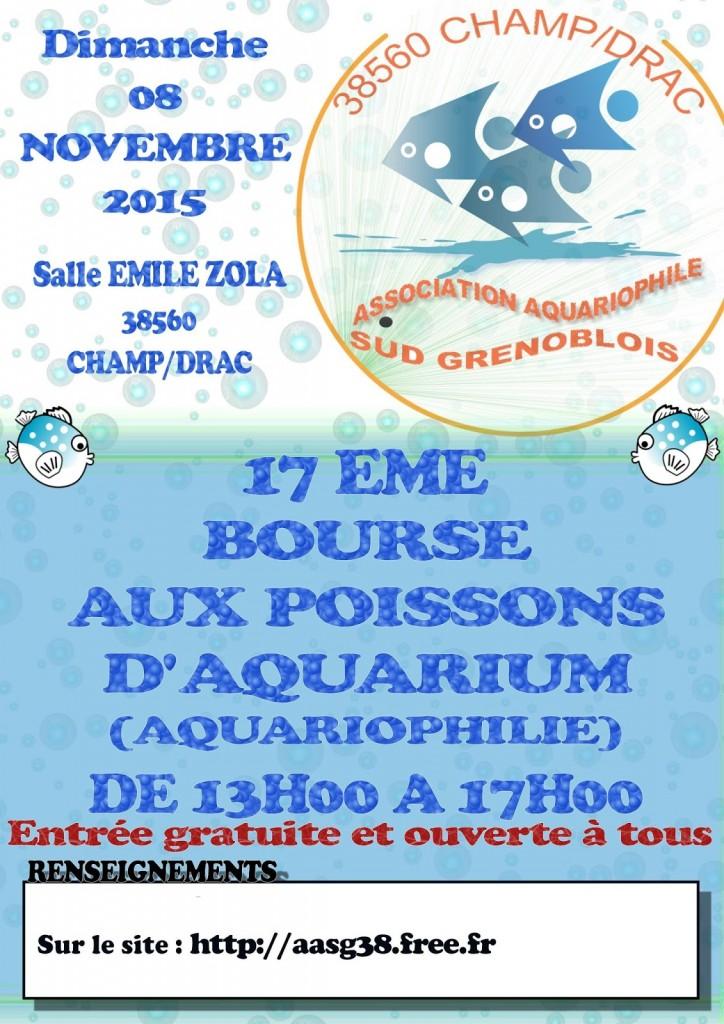 17 ème Bourse aquariophile à Champ-sur-Drac (38), le dimanche 08 novembre 2015