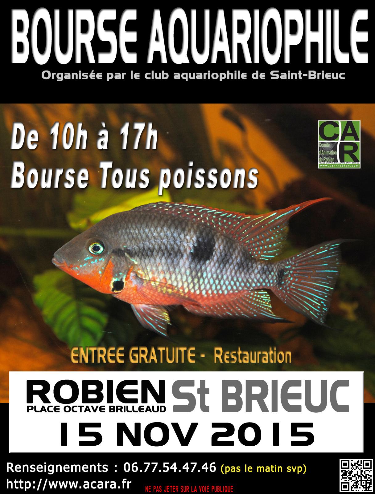 Bourse aquariophile saint brieuc 22 le dimanche 15 - Entree gratuite salon agriculture 2015 ...