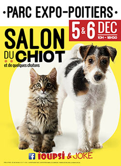 Salon du chiot poitiers 86 du samedi 05 au dimanche - Salon du chiot douai ...
