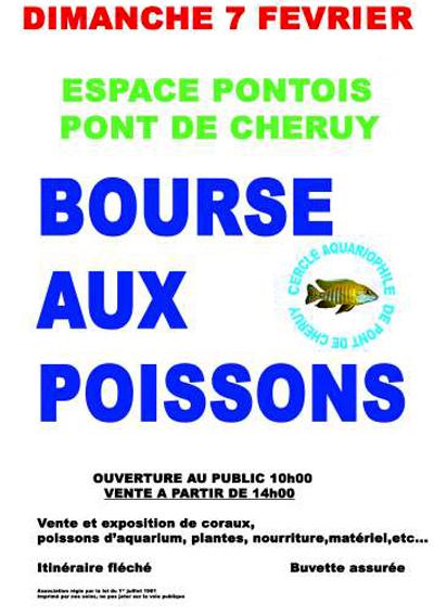 Bourse aux poissons à Pont de Cheruy (38), le dimanche 07 février 2016