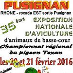 35 ème Exposition Nationale d'Aviculture à Pusignan (69), du samedi 20 au dimanche 21 février 2016