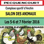 36 ème Salon des Animaux à Pecquencourt (59), les vendredi 05, samedi 06 et dimanche 07 février 2016