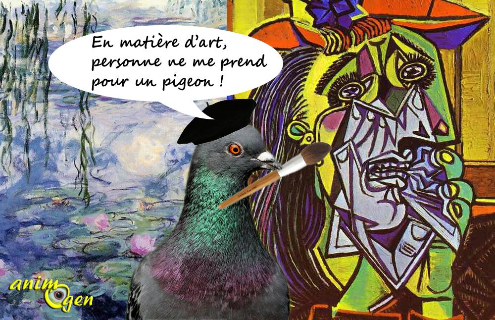 Comportement : Monet et Picasso nous prennent-ils pour des pigeons ?